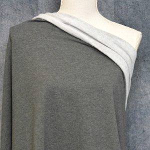 Bamboo Sweatshirt Fleece, Charcoal Mix - 1/2 meter