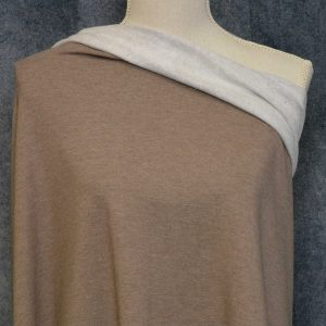 Bamboo Sweatshirt Fleece, Chocolate Milk Mix - 1/2 meter