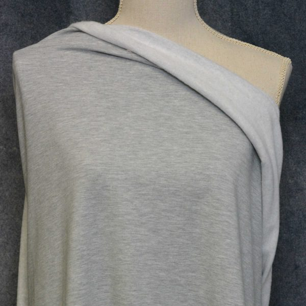 (ON ORDER - DUE MID NOV) Bamboo Sweatshirt Fleece, Light Grey Mix - 1/2 meter (N/C)