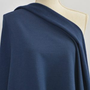 Bamboo Sweatshirt Fleece, Navy - 1/2 meter