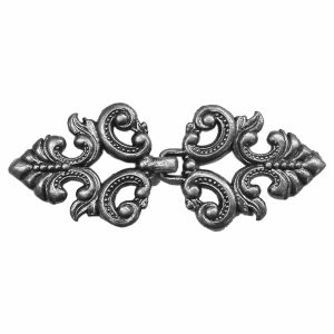 Metal Clasp, Antique Pewter BU5636P, 1 Set