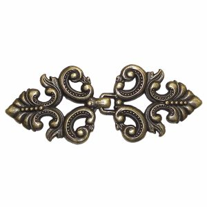 Metal Clasp, Antique Brass BU5637P, 1 Set