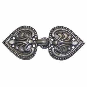 Metal Clasp, Antique Pewter BU5638P, 2 Sets