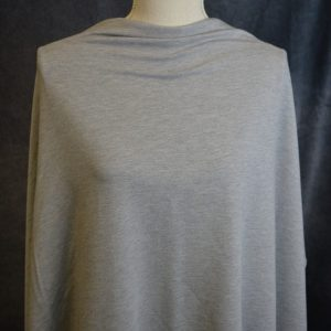 Bamboo Stretch French Terry, Mid Heather Grey - 1/2 meter