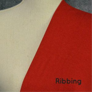 Bamboo 2x2 Ribbing, Chili Red - 1/2 meter tube