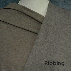 Bamboo 2x2 Ribbing, Chocolate Milk Mix - 1/2 meter tube