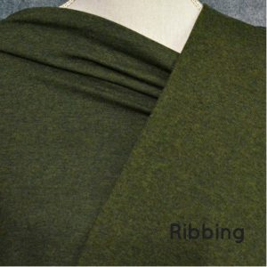 Bamboo 2x2 Ribbing, Heather Forest - 1/2 meter tube