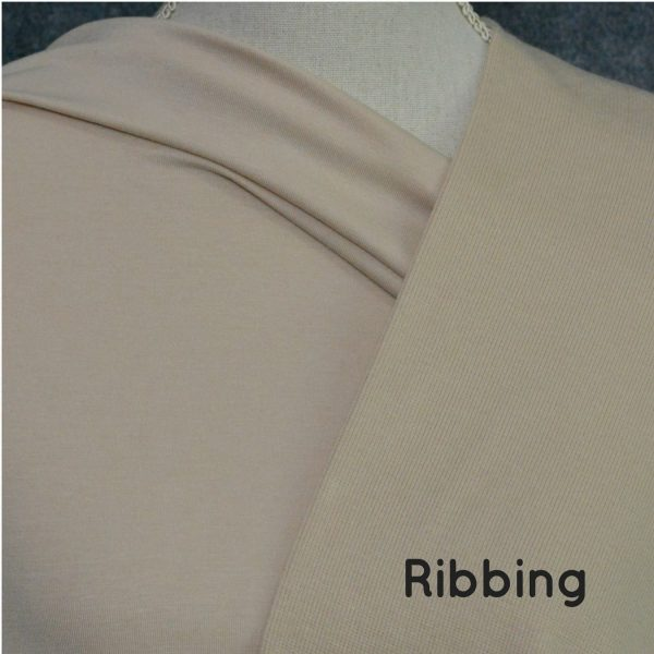 Bamboo 2x2 Ribbing, Parchment - 1/2 meter tube