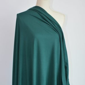Double Brushed Poly Spandex, HUNTER GREEN - 1/2 meter