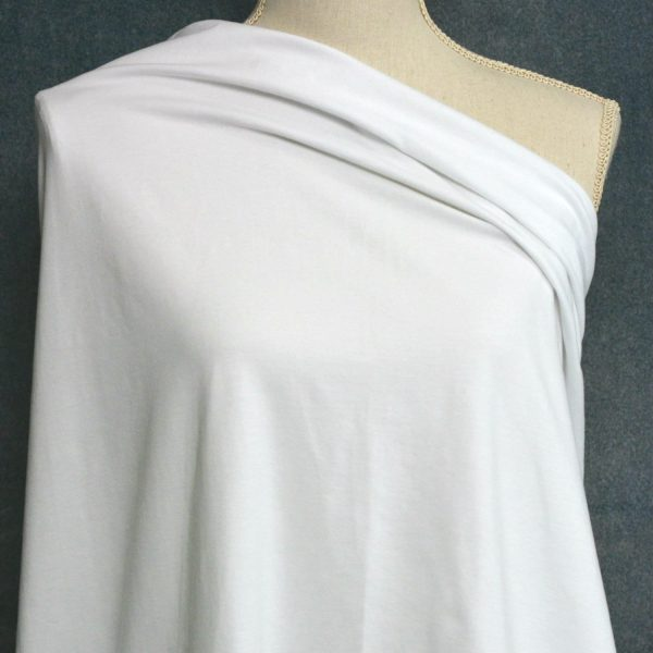 Cotton Spandex, 92/8 - 240 GSM, White - 1/2 meter