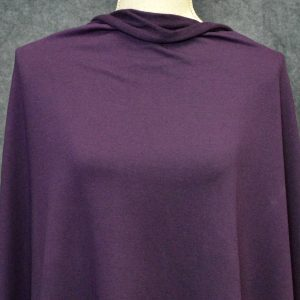Cotton Spandex French Terry, Plum - 1/2 meter