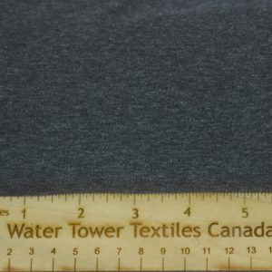 Cotton Spandex, 92/8 - 210 GSM, Dark Heather Grey - 1/2 meter