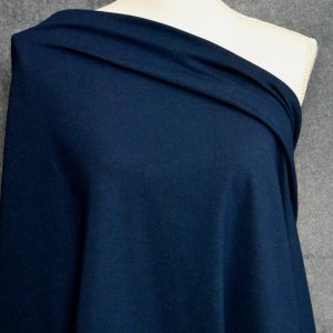 Cotton Spandex, 92/8 - 240 GSM, Navy - 1/2 meter