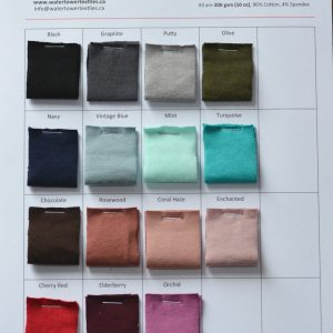Swatch Card, Cotton Spandex 200 gsm Solids