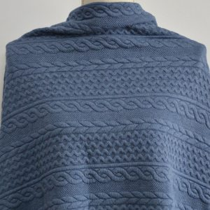 Cable Jacquard Knit, Blue - 1/2 meter