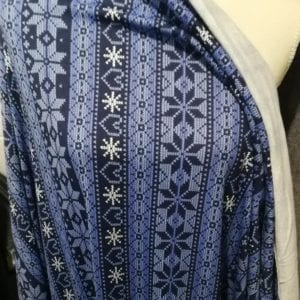 Cotton Spandex, Winter Love Sweater Print (see note) - 1/2 meter
