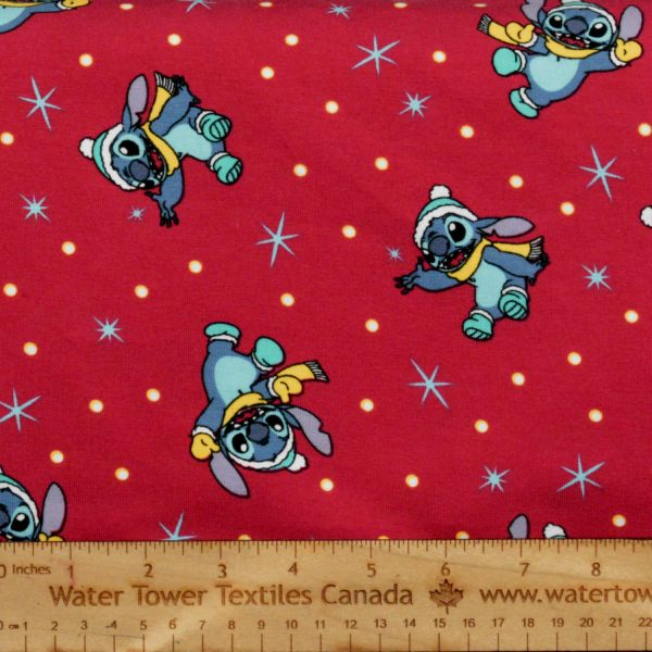 Cotton Spandex, Christmas Stitch (Limited) - 1/2 meter