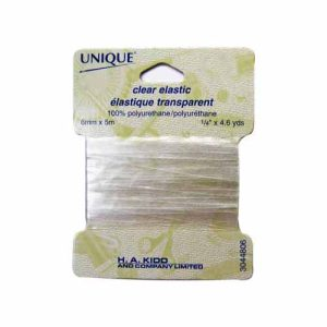 "1/4"" (6 mm) Elastic, Clear - 5m pkg"