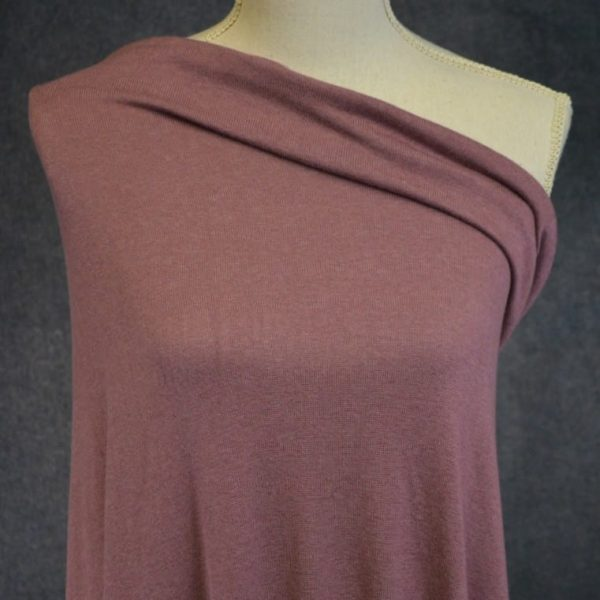 Rayon Cotton Modal Sweater Knit, Antique Rose - 1/2 meter