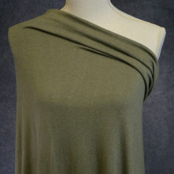 Rayon Cotton Modal Sweater Knit, Olive - 1/2 meter