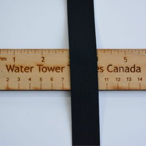 "1"" (25 mm) Elastic, Black - 1 meter"