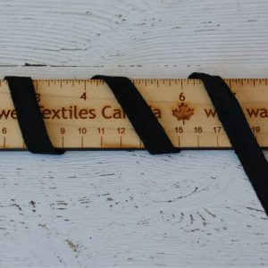 "Cotton 1/2"" (13mm) Twill Tape, Black - 1 meter"