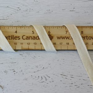 "Cotton 1/2"" (13mm) Twill Tape, Natural - 1 meter"