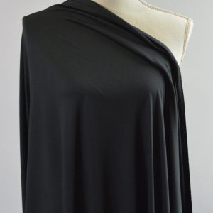 Double Brushed Poly Spandex, BLACK, Version 2 - 1/2 meter