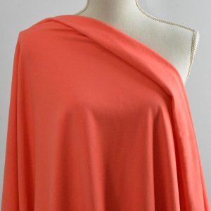 Bamboo Sweatshirt Fleece, Hot Coral - 1/2 meter