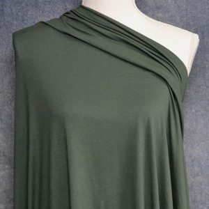 Double Brushed Poly Spandex, DARK GREEN - 1/2 meter