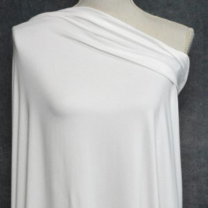 Double Brushed Poly Spandex, IVORY (FLAWED) - 1/2 meter