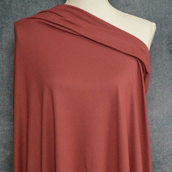 Double Brushed Poly Spandex, MARSALA - 1/2 meter