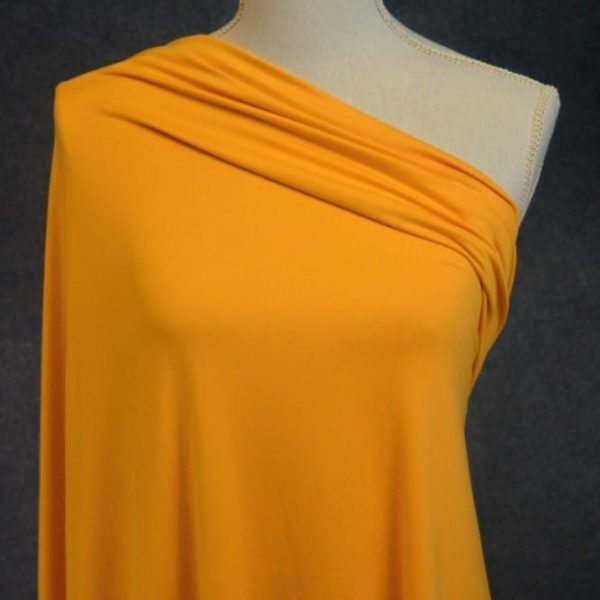 Double Brushed Poly Spandex, MUSTARD Version 2- 1/2 meter