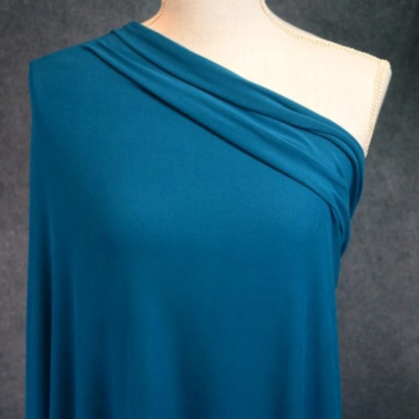 Double Brushed Poly Spandex, TEAL - 1/2 meter