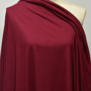 Double Brushed Poly Spandex, CRANBERRY - 1/2 meter