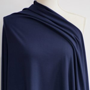 Double Brushed Poly Spandex 280 GSM, NAVY - 1/2 meter