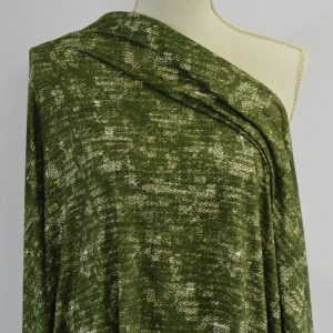 Grunge, Double Brushed Poly, Olive - 1/2 meter