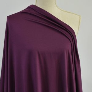 Double Brushed Poly Spandex 280 GSM, PLUM DREAM - 1/2 meter