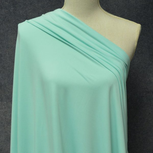 Double Brushed Poly Spandex, DARK MINT - 1/2 meter