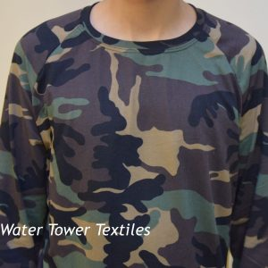 Double Brushed Polyester Spandex, Camo - 1/2 meter
