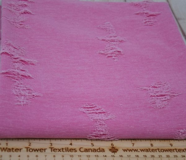 Distressed Knit Jacquard, Hot Pink (Discontinued) - 1/2 meter