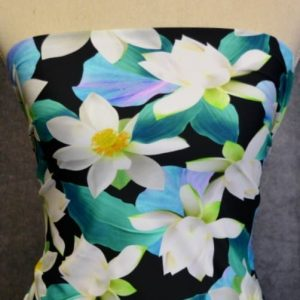 Nylon Spandex Swim Knit, Lily Pond - 1/2 meter