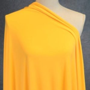 Double Brushed Poly Spandex, SUNFLOWER - 1/2 meter