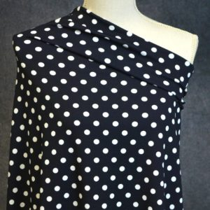 Liverpool Dots, Blackest Navy - 1/2 meter