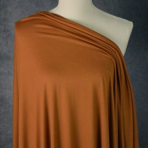 Double Brushed Poly Spandex, RUST - 1/2 meter