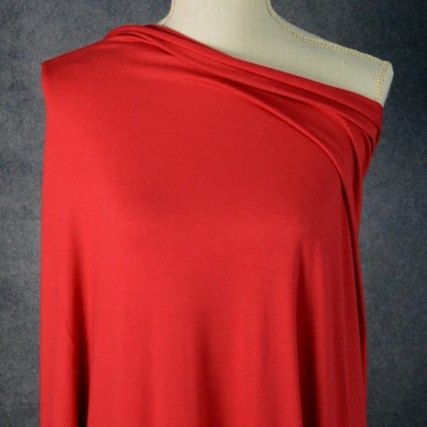 Bamboo Cotton Jersey, Chili Red - 1/2 meter
