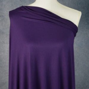 Double Brushed Poly Spandex, EGGPLANT - 1/2 meter