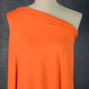 Double Brushed Poly Spandex, PUMPKIN - 1/2 meter