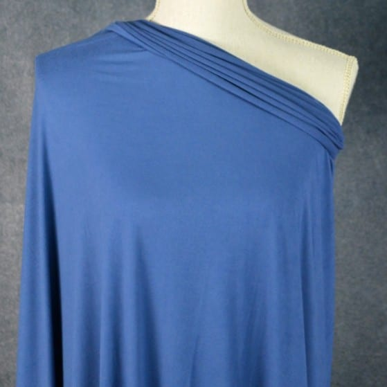 Double Brushed Poly Spandex, DENIM BLUE - 1/2 meter