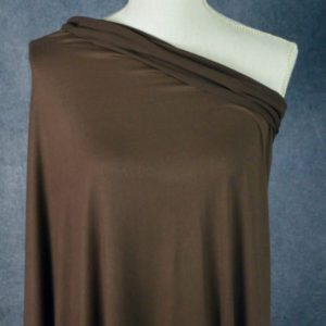 Double Brushed Poly Spandex, CHOCOLATE BROWN - 1/2 meter